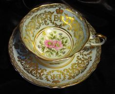 Vintage porcelain cup and saucer set by Paragon