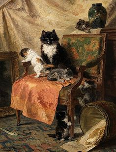 Henriette Ronner-Knip - Kittens at play1897