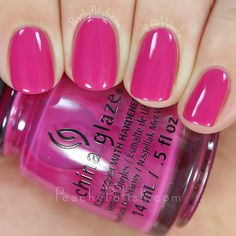 China Glaze In The Near Fuchsia | Spring 2016 House Of Color Collection | Peachy Polish #pink