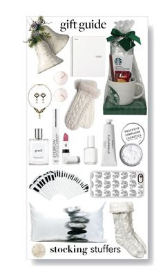 """All white for white christmas"" by chintyar ❤ liked on Polyvore featuring National Tree Company, Obsessive Compulsive Cosmetics, Byredo, Casetify, Essie, philosophy, HOTmakeup, Talika, Lipstick Queen and UGG Australia"