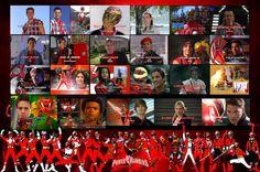 Honoring the Red Rangers by rangeranime.deviantart.com on @DeviantArt