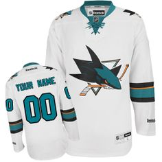 c6c3ba6d -Buy 100% official Reebok Women's Authentic White Jersey Customized NHL San  Jose Sharks Away