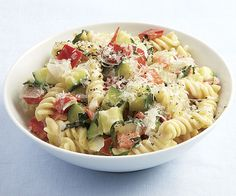 Creamy Rotini with Zucchini, Tomato, and Red Pepper: Easy and tasty. I ...