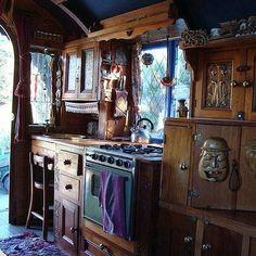 Image result for modern gypsy caravan interior