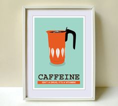 Coffee print Art Kitchen Cathrineholm Kitchen art by Cutzman, $10.00