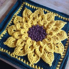 Sunflower Pillow by SunnyInDenmark, via Flickr