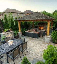 There are a plenty of backyard landscaping options, one of them is having pergola or gazebo in your backyard or garden. Modern gazebos in backyard really… Backyard Pavilion, Backyard Gazebo, Garden Gazebo, Backyard Patio Designs, Outdoor Pergola, Pergola Designs, Backyard Landscaping, Pergola Ideas, Pergola Kits