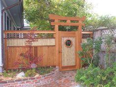 Zen Wood Garden Gate