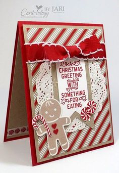 Stampin' Up! Cookie Cutter Christmas Peek (Card-iology By Jari)