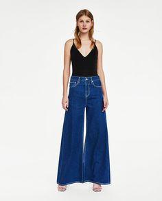 BODY TIRANTES Wardrobe Basics, Pleated Midi Skirt, Zara Women, Bell Bottom Jeans, Spring Fashion, Bodysuit, Spring Summer, Skirts, Pants