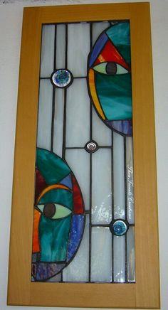 'Onlookers' stained glass panel