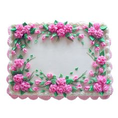 Rose Border | Cakes Decorated - Floral | Deerfields Bakery