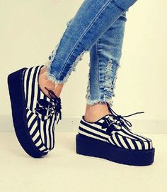 B&w striped creepers