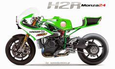 Kawasaki H2R concept by SpeedJunkies