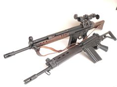 Rivals…  The FAL and G3, though technically the rifle in the picture is a PTR-91,