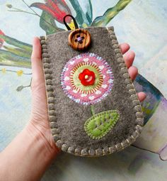 Lollipop Flower Felt Phone Case by suezybees on Etsy, $26.00