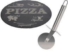 Cookinglife - Pizzaset Bord Leisteen + Snijder