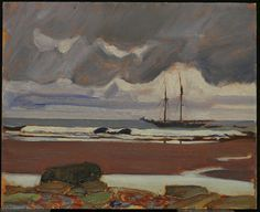 """ The Max C., Petite Rivière, Nova Scotia, 1922 J.E.H. MacDonald, Canadian, 1873 - 1932 Oil on board Overall: 21.6 x 26.7 cm Purchase, 1933 © 2014 Art Gallery of Ontario """