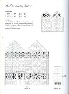 "Photo from album ""Norske Luer - Norske Votter"" on Yandex. Knitting Charts, Knitting Socks, Knitting Stitches, Hand Knitting, Knitting Patterns, Knitted Mittens Pattern, Crochet Mittens, Knitted Gloves, Fair Isle Chart"