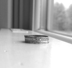 Stacking Rings Four Sterling Silver Stacking by GirlBurkeStudios, $24.00