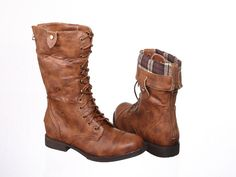 Foldover combat boots. I've always wanted these