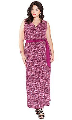 IGIGI Womens Plus Size Seneca Maxi Dress in Fuchsia Flame 12 *** Learn more by visiting the image link.