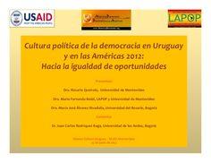 """BENEFICIARIOS DEL MIDES SON """"VAGOS"""". Así lo señalan en la investigación """"Cultura política de la democracia en Uruguay y las Américas, 2012: Hacia la igualdad de oportunidades""""."""