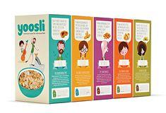 Para os retardatários de plantão que acabaram de acordar, e em vez do almoço vão tomar o café da manhã!  Embalagens de cereais Designed by Together Design