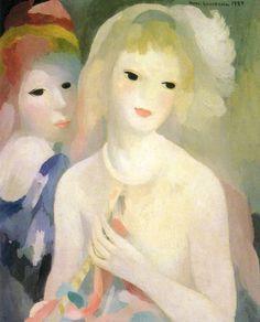 Marie Laurencin paintings on exhibit at Musee Marmottan Monet, Paris.