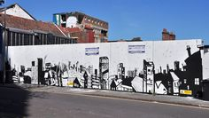 Nice black and white mural by Jonathan Farr in Bristol