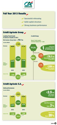 2013 results, Crédit Agricole group