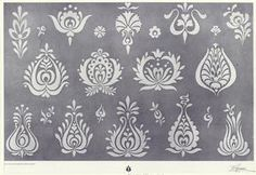 Folk Embroidery Patterns Hungarian motifs - ideas for embroidery. Chain Stitch Embroidery, Embroidery Motifs, Learn Embroidery, Embroidery Designs, Stitch Head, Hungarian Embroidery, Embroidery Techniques, Lana, Needlework