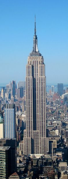 Empire State Building, New York, USA.The Empire State Building was designed by William F. Lamb from the architectural firm Shreve, Lamb and Harmon.