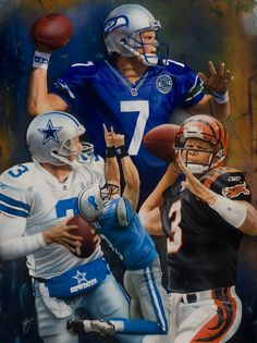 Retired QB, Jon Kitna. Commissioned as a gift from his wife to commemorate his career.