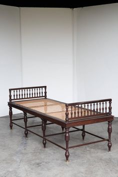 Anglo Indian Rosewood Daybed with Caning | From a unique collection of antique and modern day beds at https://www.1stdibs.com/furniture/seating/day-beds/