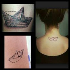 Decided I really want a small origami boat tattoo, it has a lot of meaning to me.  Just gathering ideas of designs.