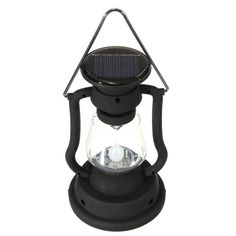 Sale 12% (12.52$) - Outdoor Camping Solar Cell Panel Lantern Hand Crank 7 LED Lamp