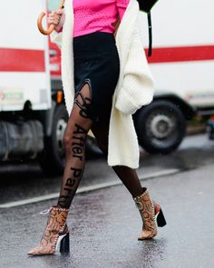 Spice up your wardrobe with these printed boots and tights!