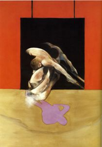 Francis Bacon, Figure in Movement, 1978 oil and pastel on canvas, 198 x 147.5 cm private collection, Los Angeles