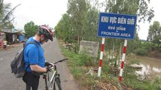 A lonely friend from Ireland at Vietnam - Cambodia border