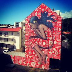 Tahitian dream in Papeete with HTJ - Graduated from the National School of Decorative Arts in Paris, French street artist Julien Malland, aka Seth Globepainter, created large scale of murals on the street walls of many countries, India, China, Mexico, Brazil, South Africa, etc.