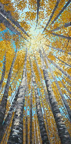 Colorado in the fall    Fall Canopy - original tree painting on Etsy. , via Etsy.