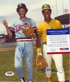 Rickey Henderson & Ken Landreaux autograph 8 x 10 . $94.99. This is a autograph Rickey Henderson & Ken Landreaux 8x10 photo. Signed in Blue sharpie.  Photo is authenticity by PSA/DNA. Comes with a PSA/DNA sticker on the photo and a PSA/DNA basic cert stating the photo is authentic.  Please see scan.