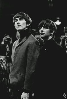 George and Ringo, c. 1964. 100% adorable