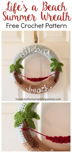 Making crochet wreaths is so much fun and I had a blast making this one! Once you know how to make the base, the possibilities are endless. This pattern is available as an inexpensive, clearly formatted, PDF instant downloadHEREin my Etsy shop. PATTERN Materials I Love This Yarn in Glacier, Light Taupe, Brown, Cranberry, White, Keylime 5.0 mm hook 12 inch styrofoam wreath Yarn needle Scissors Glue (I used hot glue, craft glue would work, too) Sewing pins Level Intermediate Pattern Notes…