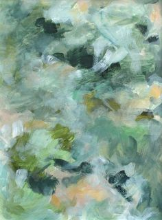 neutral impressionistic abstract painting by Stephanie Kirkland | abstract art, contemporary art, modern art, impressionist, abstract landscape, original art, art for sale