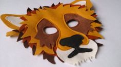 Lion Mask for Pretend Play Dress up 100 Wool Felt by MouseAndMoose, $42.00
