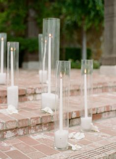 Candle decor: http://www.stylemepretty.com/2017/03/08/glam-napa-valley-vineyard-wedding/ Photography: Sylvie Gil - http://www.sylviegilphotography.com/