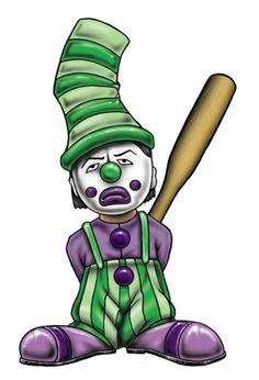 Bang Bang Clown Joker Clown, Creepy Clown, Chicano Tattoos, Chicano Art, Cartoon Art, Cartoon Characters, Arte Lowrider, Cholo Style, Clown Tattoo