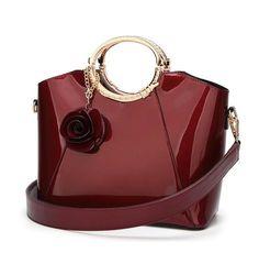 de7c5a5918f3 VMOHUO Patent Bags Handbags Women Famous Brands Ladies Lacquer Red Bag  Japanned Leather Women s handbag Shoulder Bag sac a main